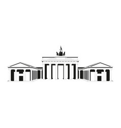 brandenburg gate outline brandenburg gate vector image