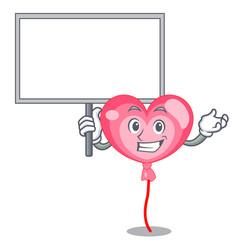 bring board ballon heart character cartoon vector image