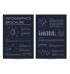 business presentation template in deep blue style vector image