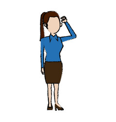 business woman politician character standing vector image