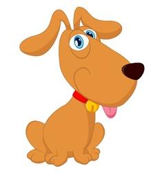 Cartoon cute dog sitting vector image