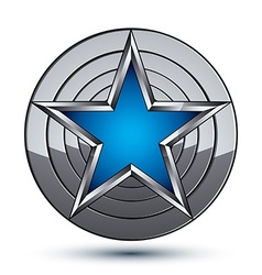 Celebrative metallic geometric symbol stylized vector