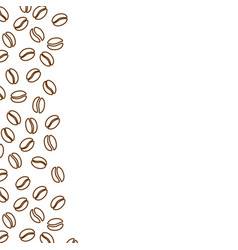 coffee beans ad banner template blank background vector image
