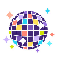 colorful disco ball that shines bright isolated vector image