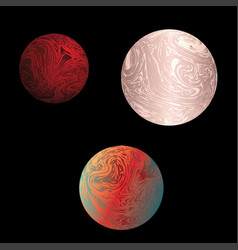 colorful marble planet vector image