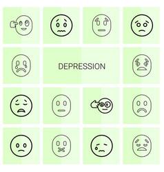 Depression icons vector