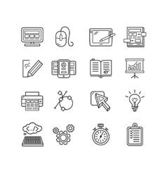 Design web site development theme icon set vector