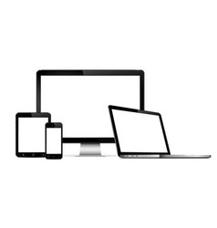 digital devices blank screen vector image