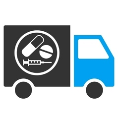 Drugstore Truck Flat Icon vector