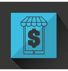 E-commerce market store money vector