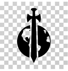 earth military protection icon vector image
