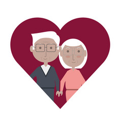 elderly couple design vector image