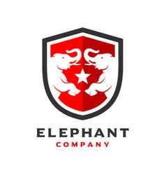 Elephant logo design template vector