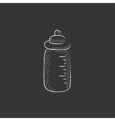 Feeding bottle Drawn in chalk icon vector image