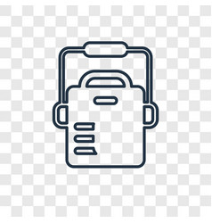 freezer concept linear icon isolated on vector image