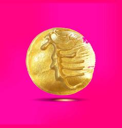 gold acrylic spot vector image