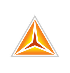 golden clarity triangle symbol design vector image