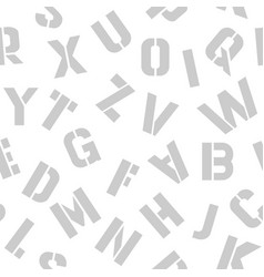 gray letters pattern on a white background vector image