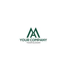Green ma logo design vector