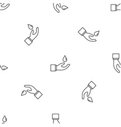 hand save water pattern seamless vector image