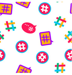 hashtag number sign seamless pattern vector image