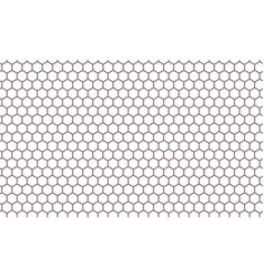 hexagon net pattern background vector image