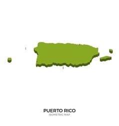 Isometric map of Puerto Rico detailed vector