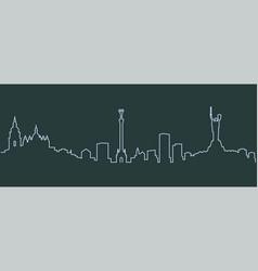 Kiev single line skyline vector