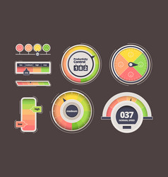 level indicator power measurement counters vector image