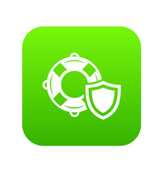 lifeguard protection icon green vector image