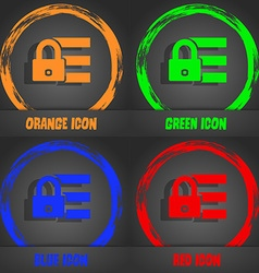 Lock login icon sign Fashionable modern style In vector image