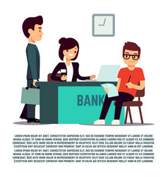 man in bank flat - banking vector image