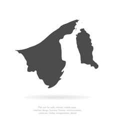 map brunei isolated black on vector image