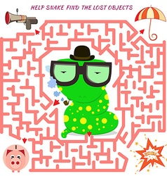 Maze game for kids vector image