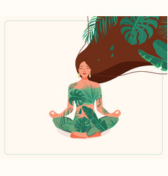 mind wellness young woman vector image