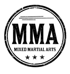 Mma mixed martial arts grunge rubber stamp vector