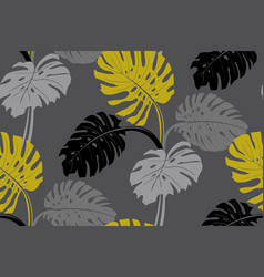 modern tropical pattern with monstera bushes in vector image