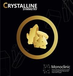 Monoclinic 01 vector
