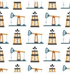 oil industry production station extracting vector image