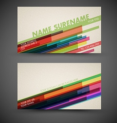 Old-style retro vintage colorful business card vector