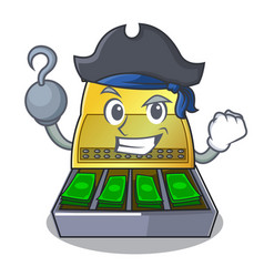 Pirate electronic cash register isolated on a vector