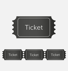 Raffle ticket icon vector
