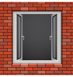 Redbrick window vector