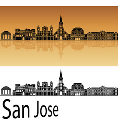 san jose skyline vector image