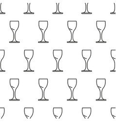 seamless pattern from icon of drink glass vodka vector image