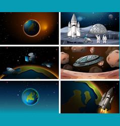 Set different space scene vector