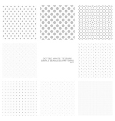 Set of simple dotted patterns seamless vector image