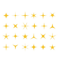 shiny stars sparkle light bright star and vector image