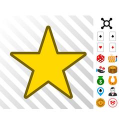 star icon with bonus vector image