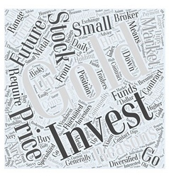 Stock Market How to Invest Gold Word Cloud Concept vector